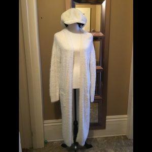 Long sleeve mohair cardigan